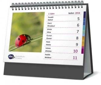Kroužková vazba stolního kalendáře twin wire