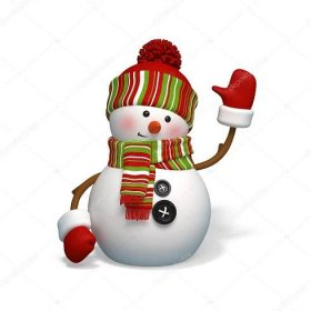 Download - Snowman greeting — Stock Image
